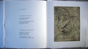 Page intérieure de Dans l'écart, eau-forte Marie Alloy copie